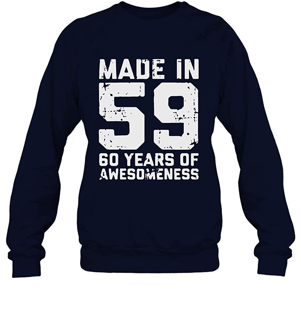 LubuTees Made in 59 60 Year of Awesomeness Sweatshirt