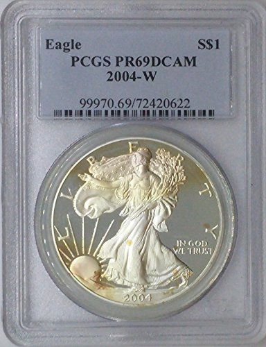 2004 W American Eagle $1 PR69 PCGS Silver Dollar Old US Coin 90% Silver