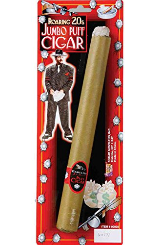 Forum Novelties Women's Jumbo Fake Gangster Cigar Brown One Size Fits Most ()