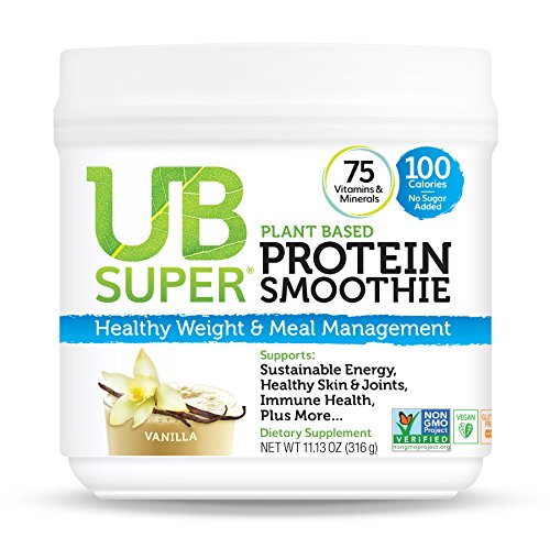 UB Super Plant Based, Vegan Protein Powder, Gluten Free, SuperFood, Nutrient Rich, Smoothie Mix Dietary Supplement (Vanilla) (Best Superfoods For Weight Gain)