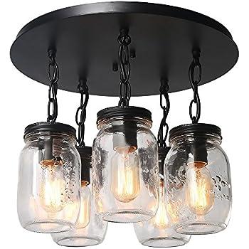 Lnc 5 light glass mason jar ceiling lights flush mount ceiling light lnc 5 light glass mason jar ceiling lights flush mount ceiling light aloadofball Gallery