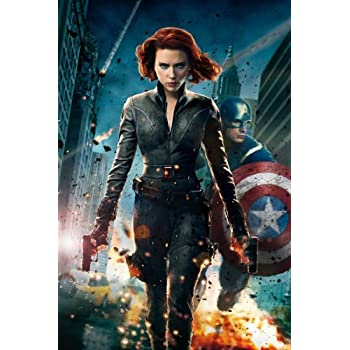 Amazon.com: (24x36) The Avengers (2012) Movie Poster ...