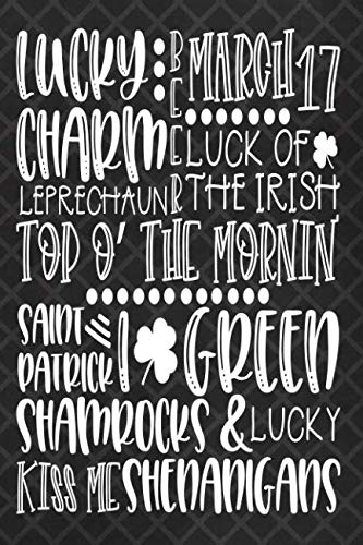 Lucky Charm: Blank Lined Notebook Journal Diary Composition Notepad 120 Pages 6x9 Paperback Black ()