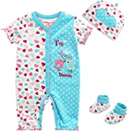 Kiddiezoom Baby Girls' Preemie Layette 3 Piece Gift Set — Newborn Baby Boy Girl Clo