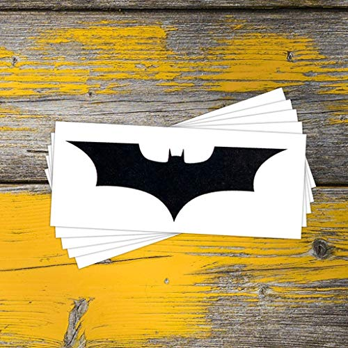 Batman Symbol Temporary Tattoos (5-Pack) | Skin Safe | MADE IN THE USA| Removable ()