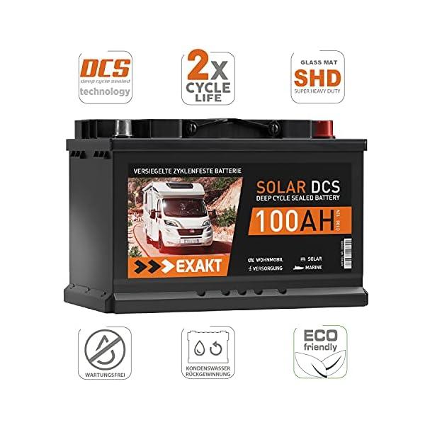 51U3sFjDUPS Solarbatterie 100Ah 12V EXAKT DCS Wohnmobil Versorgung Boot Solar Batterie Größenwahl (100AH 12V)