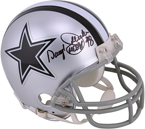 Dallas Cowboys Autographed Pro Helmet - Daryl Johnston Dallas Cowboys Autographed Pro Mini Helmet with Moose Inscription - Fanatics Authentic Certified