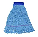Magnolia Brush 4932-B Synthetic/Acrylic Blend Cotton Industrial Grade Colored Loop End Mop Head, X-Large (Case of 12)