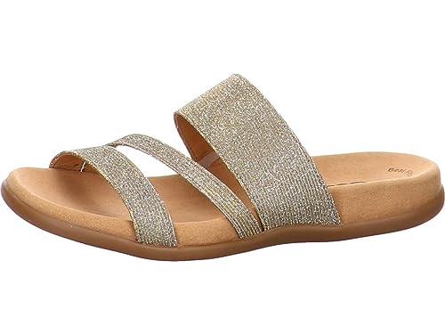 Pantoletten von Gabor in Gold für Damen