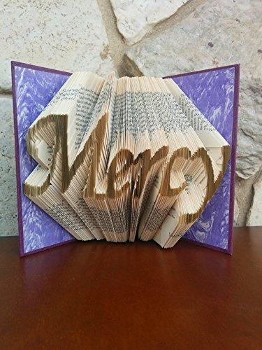 Mercy Folded Book Sculpture - Mercy Sculpture