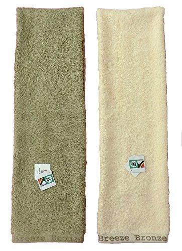 消臭タオル ブリーズブロンズ フェイスタオル 2色セット 急速分解消臭繊維 オヤジ臭対策