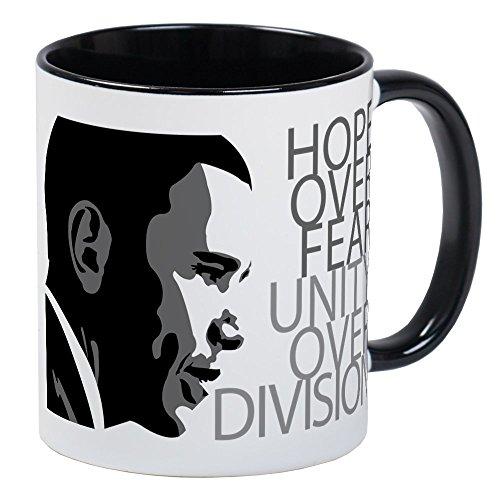 CafePress - Obama - Hope Over Division - Grey Mug - Unique Coffee Mug, Coffee Cup