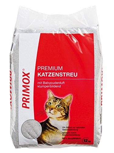 Primox 204595 Premium Katzenstreu mit Babypuderduft 12 kg