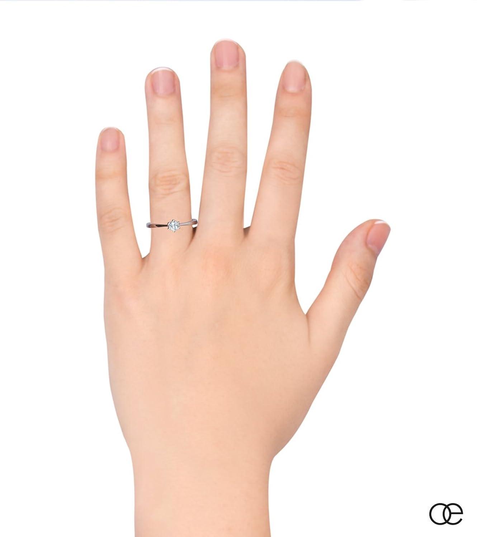 Moncoeur Verlobungsring Eternité Aquamarin 925 Sterling Silber