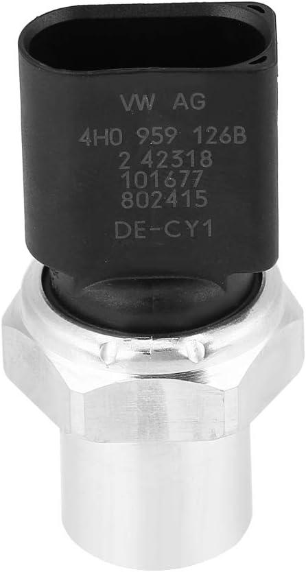 Interruptor de presi/ón para aire acondicionado Qiilu Interruptor del sensor de presi/ón del aire acondicionado 4H0959126B para A3 A4 A5 A6 A7 A8 Q5 S8 SQ5