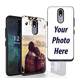 Beyond Cell Custom Personalized Create Your Own Name Photo Slim Dual Layer Wallet Design and Holder + Wireless Charging…