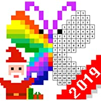 pixel art:color by numbers