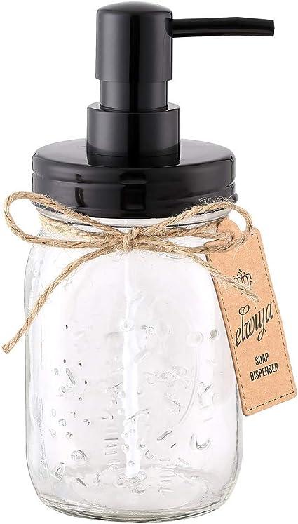 Elwiya Mason Jar Soap Dispenser