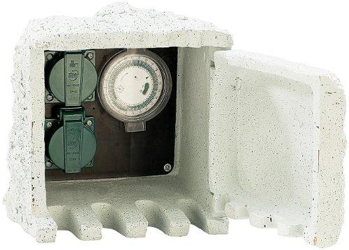 Royal Gardineer Gartensteckdose mit Zeitschaltuhr IP44 / 230V