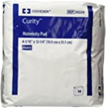 """COVIDIEN 2022A Covidien Curity Maternity Pad Heavy 4.33"""" x 12.25"""" (3 Packs of 14 Pads) (Pack of 42)"""