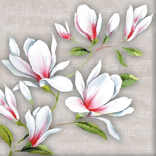 4 Paper Napkins for Decoupage - 3-ply, 33 x 33cm - Musical ()