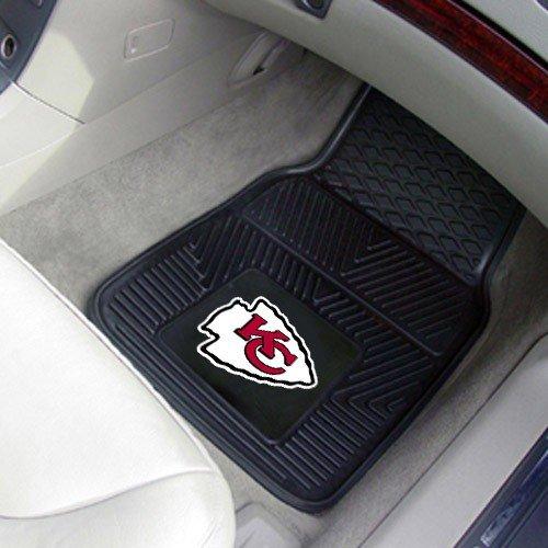 NFL Kansas City Chiefs Black 2-Piece Vinyl Car Mat ()