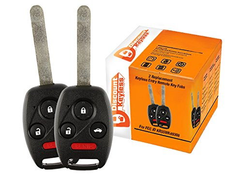 Discount Keyless Replacement Uncut Car Remote Fob Key Combo Compatible with OHT692713AA OHT692427AA