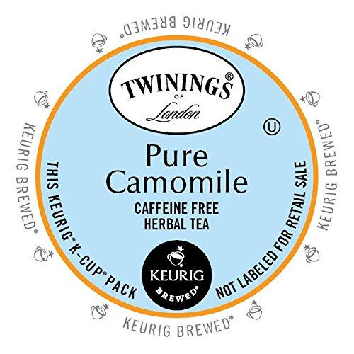 Camomile Tea Caffeine (Twinings Pure Camomile Tea, Keurig K-Cups, 24)