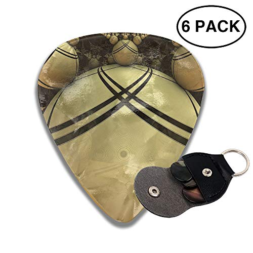 Colby Keats Guitar Picks Plectrums Orange Balls Classic Electric Celluloid Acoustic for Bass Mandolin Ukulele 6 Pack 3 Sizes .46mm -