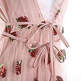 Dpnhyo Sexy V-Neck Lace Up Dress for Women