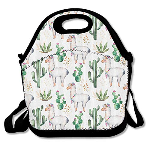 - SWDGYW36 Hot South Desert Plant Cactus Pattern with Camel Animal Lunch Bag Lunch Tote Lunch Pouch Handbag Made for Women, Men and Kids