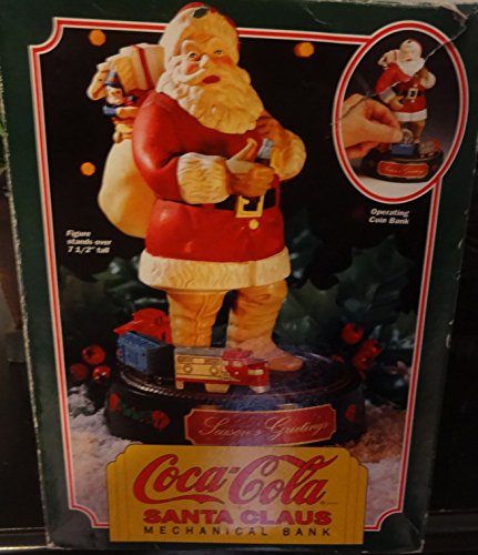 (Erytl Coca-Cola Santa Claus Mechanical Bank 1st in Series)