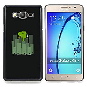 Stuss Case / Funda Carcasa protectora - Japón Ciudad Minimalista Negro Cartoon - Samsung Galaxy On7 O7