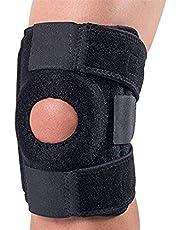 دعامة الركبة من تشارليمايند، مع حزام قابل للتعديل وأكمام من النيوبرين مسامية لتخفيف آلام الركبة تساعد على التهاب المفاصل والدموع والتهاب المفاصل وآلام الأوتار الرضفي - اللون الأسود