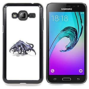 - Dragon Grey Mythical Art Wild Drawing - - Snap-On Rugged Hard Cover Case Funny HouseFOR Samsung Galaxy J3