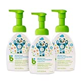 Babyganics Alcohol-Free Foaming Hand Sanitizer, Pump Bottle, Fragrance Free, 8.45 oz, 3 Pack, Packaging May Vary