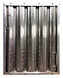 20'' tall x 16'' wide x 2'' Trine Heavy Duty Aluminum Restaurant Hood Baffle Filter (Dual Riveted / Ridged Baffle)