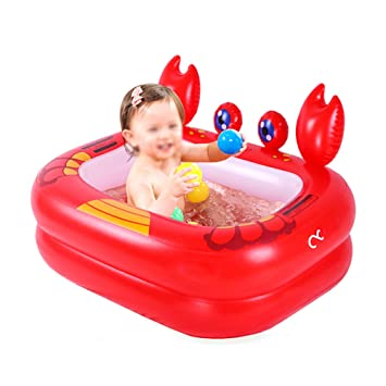 Mr.LQ Bañera Inflable para bebés Bañera para niños Ducha ...
