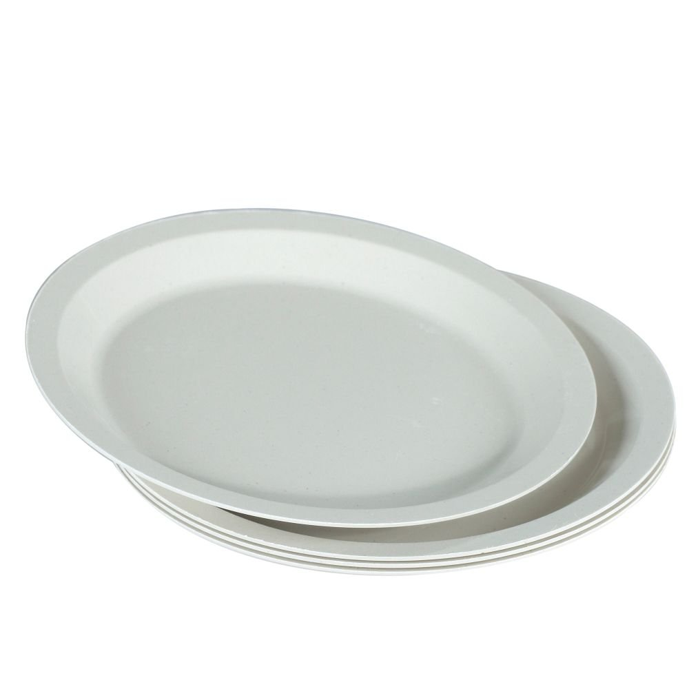 Amazon.com | Nordic Ware 60070FS White 10  Microwave Safe 4 Piece Dinner Plate Set Deviled Egg Plates Accent Plates  sc 1 st  Amazon.com & Amazon.com | Nordic Ware 60070FS White 10