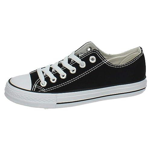 87d6c529072 ANDY Z AW0101-01 Bambas Lona Negra Mujer Zapatillas Negro 38: Amazon.es:  Zapatos y complementos