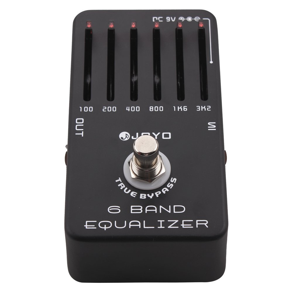 Joyo JF-11 6-Band Equalizer, Smooth Sliders and 18dB Boost / Cut