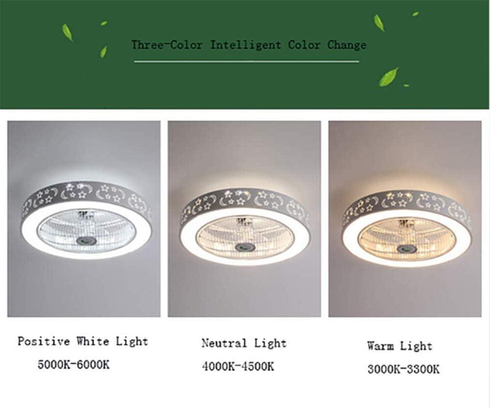 Compatible Con  Alexa Durante Dormitorio Luz De Techo De 84W LED De Color RGB Con Bluetooth-Altavoces Mando A Distancia Ventilador De Techo De Luz Con Smart Wi-Fi Habitaci/ón De Los Ni/ños