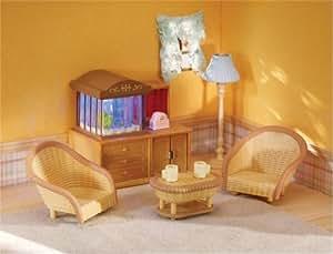 Calico Critters Family Room with Aquarium