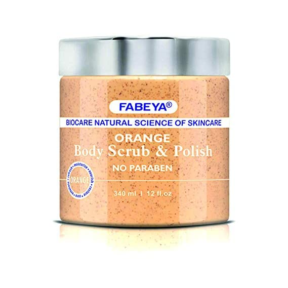 FABEYA Orange Body Scrub and Polish, 340 ml
