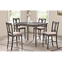 Best Master Furniture DEMI 5 Piece Demi Counter Height Set