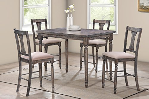 Best Master Furniture Demi 5 Piece Demi Counter Height Set