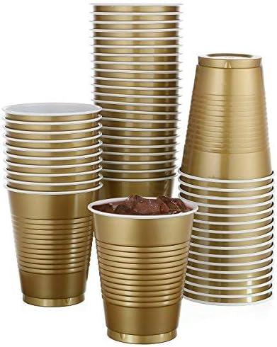16 Oz Multicolor Amscan 422752 Internet Famous Metallic Plastic Favor Cup