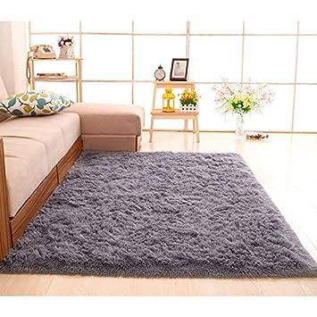 Kooco Größe Flauschig Dicker Werden Teppiche Rutschsicheren Shaggy Bereich  Teppich Esszimmer Teppich Fußmatte Home Schlafzimmer Home