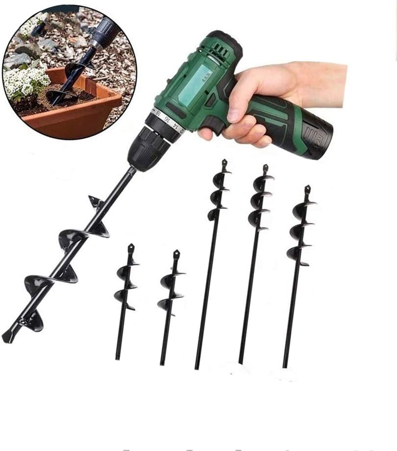 Earth Auger Bit Post Hole Digger for 3//25 to 1//2 Hex Drive Drill 7-30 Garden Plant Flower Bulb HEX Shaft Auger Auger Drill Bit for Planting 1.57x17.7
