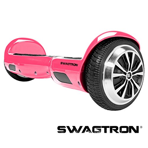 Swagtron T1 - UL 2272 Certified Hoverboard - Electric Self-Balancing Scooter – Your swag personal transporter awaits you. (Pink)